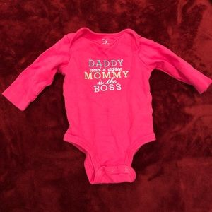 Other - Pink long sleeve onesie
